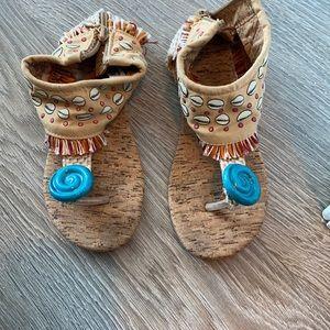 Girls Moana Costume Sandals
